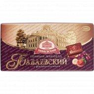 Шоколад темный «Бабаевский» с фундуком и изюмом, 100 г.