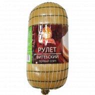 Продут из цыплят-бройлеров «Рулет Витебский» копчено-вареный, 1 кг.