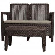 Комплект мебели «Keter» Tarifa Sofa Set, коричневый.