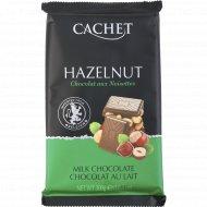 Молочный шоколад «Cachet» с лесным орехом, 300 г.