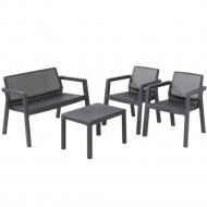 Комплект мебели «Keter» Emily 2 Seater, графит.