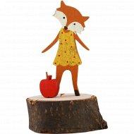 Статуэтка деревянная «Лиса» 5 Х 6 Х 11 см.