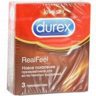 Презервативы «Durex» real Feel, естественные ощущения, 3 шт.