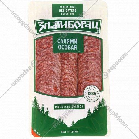 Колбаса сырокопченая «Салями особая» в нарезке, 90 г.