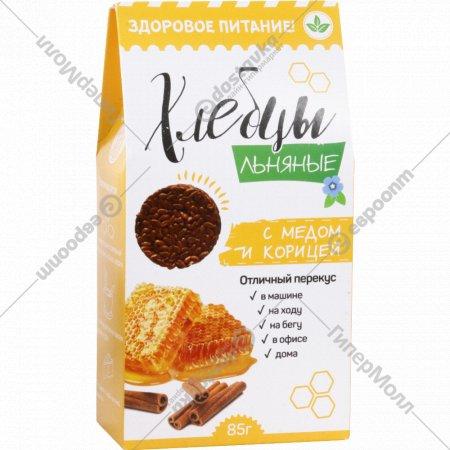 Хлебцы льняные «Oleos» c медом и корицей, 85 г.