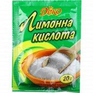 Кислота лимонная «Деко» 20 г.