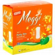 Гигиенические прокладки «Meggi» Panty Deo, липовый цвет, 60 шт.
