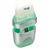 Точилка одинарная + ластик «Milan Capsule Silver».