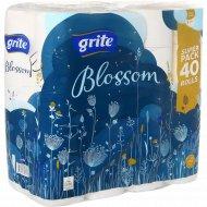 Туалетная бумага «Blossom» 3 слоя, 40 рулонов.