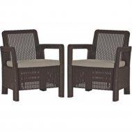 Комплект мебели «Keter» Tarifa 2 Chairs, коричневый.