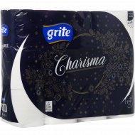 Туалетная бумага «Charisma» 4 слоя, 12 рулонов.