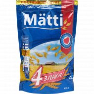 Каша «Matti» 4 злака, быстрого приготовления, 400 г.