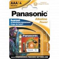 Элемент питания «Panasonic» Alkaline LR03, AAA, алкалиновый, 4 шт.