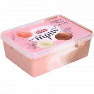 Мороженое «Юкки Трио» ваниль, шоколад, клубника, 400 г.