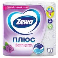 Бумага туалетная «Zewa» с ароматом сирени, двухслойная, 4 рулона.
