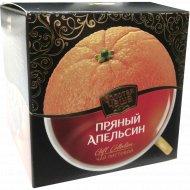 Чай чёрный, зеленый «Золотая чаша» пряный апельсин, 90 г.