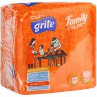Салфетки бумажные «Family» персиковые, 24x24 см.
