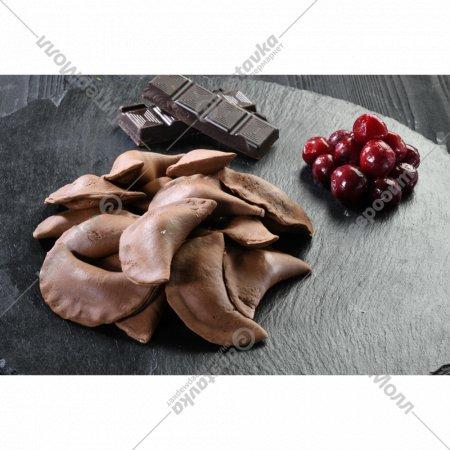 Шоколадные вареники замороженные с вишней, 500 г.
