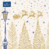 Салфетки бумажные «Art Bouquet» золотой лес, 33х33 см, 20 листов.