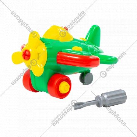 Конструктор-транспорт «Самолет» 19 элементов, в пакете.