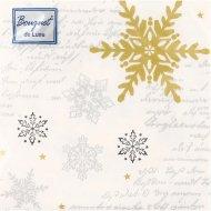 Салфетки бумажные «Bouquet de Luxe» 24х24 см, 25 листов.