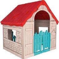 Домик игровой «Keter» Foldable Playhouse, бежево-красный.