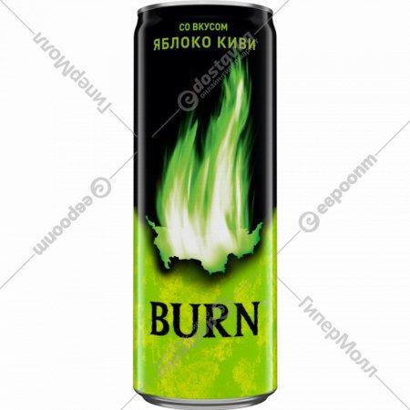 Напиток энергетический «Burn» со вкусом яблоко киви, 0.25 л.