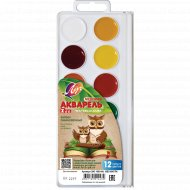 Краски акварельные «ZOO» без кисти, 12 цветов.