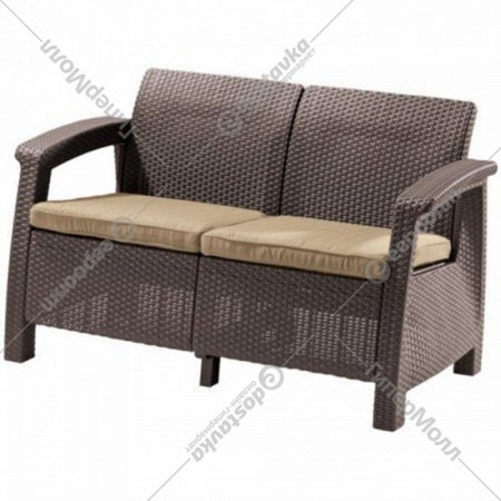 Диван «Keter» Corfu Love Sofa, коричневый.