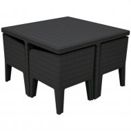 Комплект мебели «Allibert» Columbia Dining Set. 5, графит.