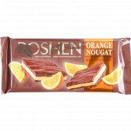 Молочный шоколад «Roshen» с апельсиновой нугой, 90 г.