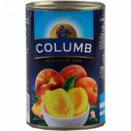 Персики резанные «Columb» в сиропе, 410 г.
