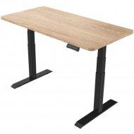 Письменный стол «Smartstol Slim» 120х80х1.8, дуб санома+черный.