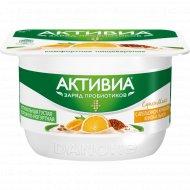 Творожно-йогуртная «Активиа» апельсин-кумкват-киноа-лен, 4%, 130 г.