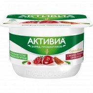 Творожно-йогуртная «Активиа» вишня-гранат-киноа-асаи, 4%, 130 г.