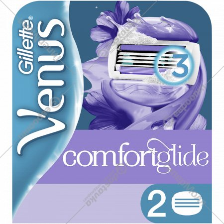 Сменные кассеты для бритвы «Gillette Venus» Breeze, 2 шт.