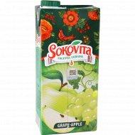 Напиток сокосодержащий «Sokovita» виноградно-яблочный, 0.95 л.
