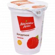 Продукт йогуртный «Ласковое лето» термизированный, малина 2%, 350 г.