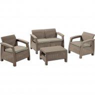 Комплект мебели «Allibert» Corfu II Set, капучино.