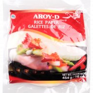 Рисовая бумага «Aroy-D» 22 см, 50 листов, 454 г.