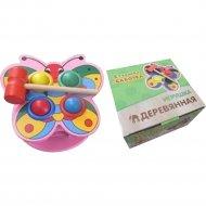 Деревянная игрушка-стучалка «Бабочка» ИД-7757.