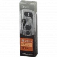 Наушники внутриканальные «Intro» RX-210 черные.