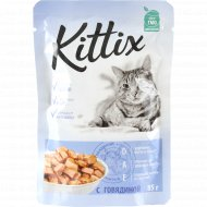 Корм для кошек «Kittix» с говядиной, 85 г