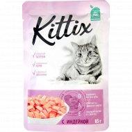 Корм для кошек «Kittix» с индейкой, 85 г.