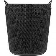 Корзина для бумаг «Idea» Вязание, черная, 10л