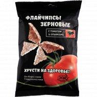 Снеки зерновые «Flychips» с томатом и оливками, 40 г