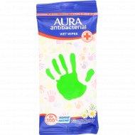 Влажные салфетки «Aura» антибактериальные, 20 шт.