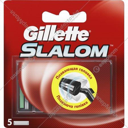 Сменные кассеты «Gillette» Slalom с экстрактом алоэ, 5 шт.