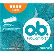 Тампоны гигиенические «o.b.» ProComfort Super 8 шт.