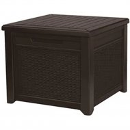Столик-сундук «Keter» Cube Rattan 208L, коричневый.